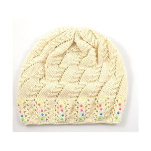 Dievčenská čapica Cuki, krémová