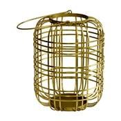 Lampáš z antikoro ocele v zlatej farbe Green Gate Hurricane Green Gate Hurricane