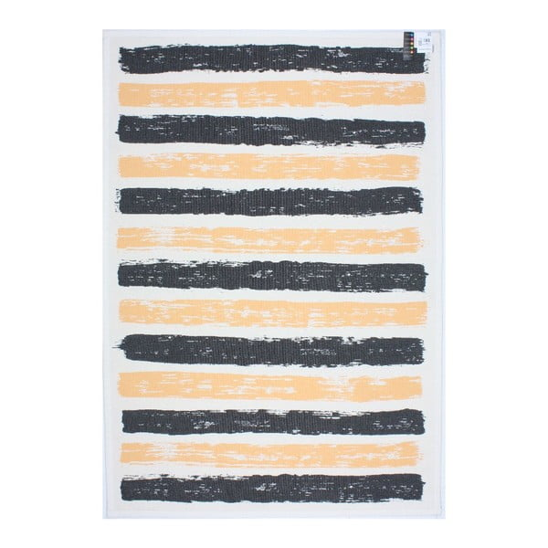 Koberec NW White/Black/Yellow, 160x230 cm