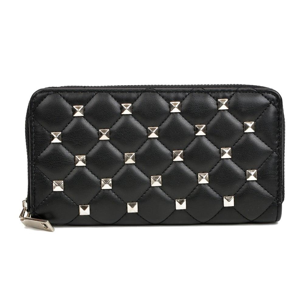 Čierna kožená peňaženka Isabella Rhea Emanuele