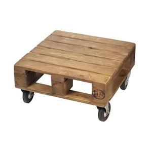 Odkladací stolík na kolieskach Wood Pallet