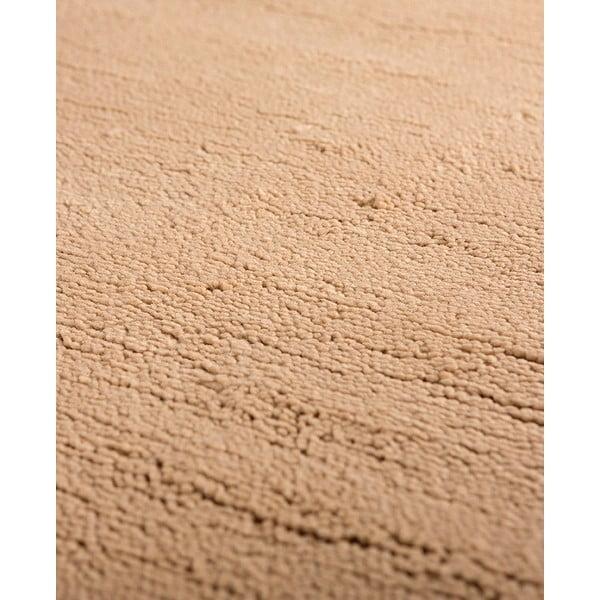 Vlnený koberec Pradera, 90x160 cm, béžový
