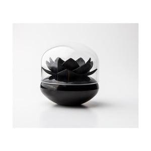 Čierny stojan na vatové tyčinky Qualy&CO Lotus