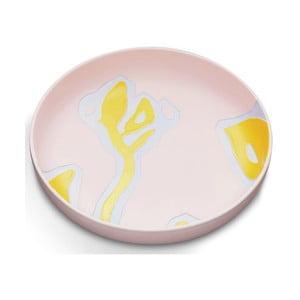 Ružový kameninový tanier Kähler Design Fiora, ⌀ 28 cm