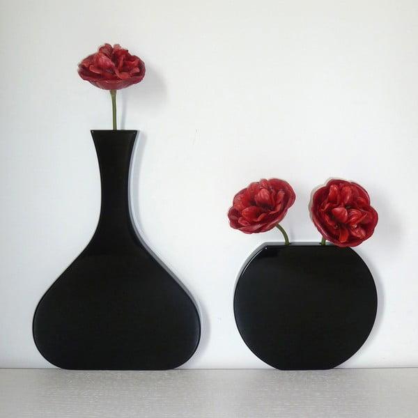 Nástenná váza Vanity Tall Black