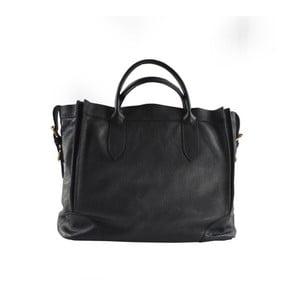 Čierna kožená kabelka Chicca Borse Mulina