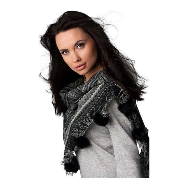 Vlnená šatka Shirin Sehan - Adel Black