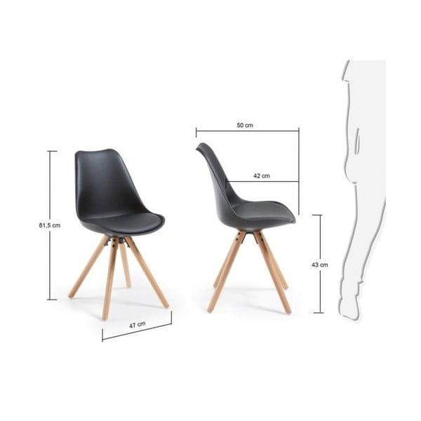Čierna stolička La Forma Lars