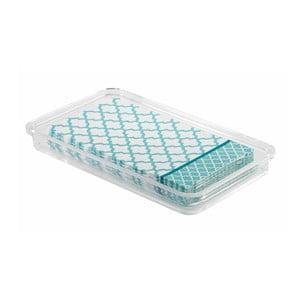 Zásobník na uteráky InterDesign Clarity, délka 25 cm