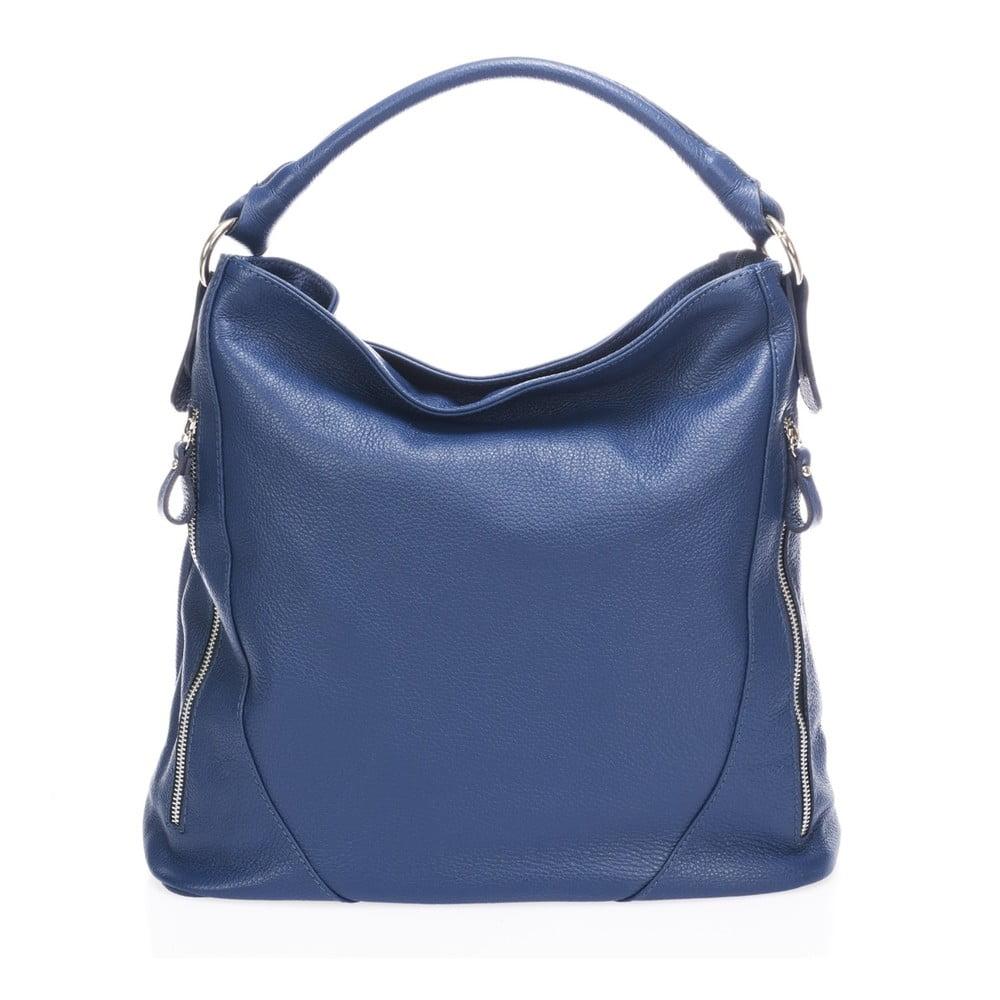 Modrá kožená kabelka Markese Ursine
