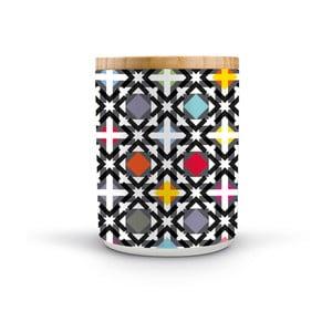 Porcelánová dóza s dreveným vrchnákom Remember Holy, 1,62×⌀1,25 cm