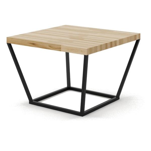 Malý konferenčný stôl z dubového dreva s čiernou podnožou Absynth Noi