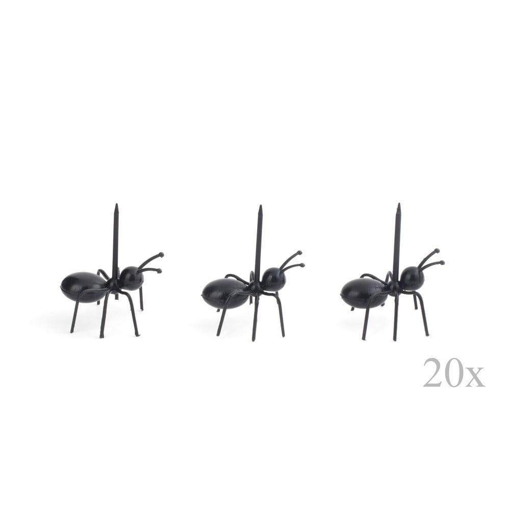 Sada 20 špáradiel na servírovanie Kikkerland Ants