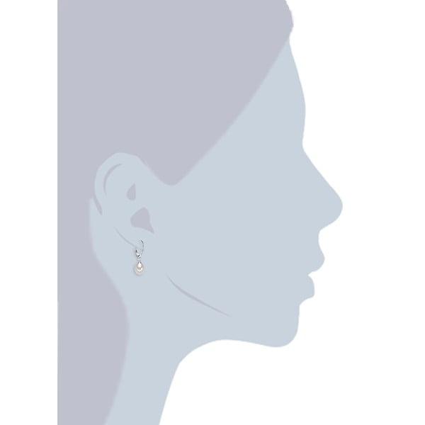 Biele perlové náušnice s krúžkom Chakra Pearls