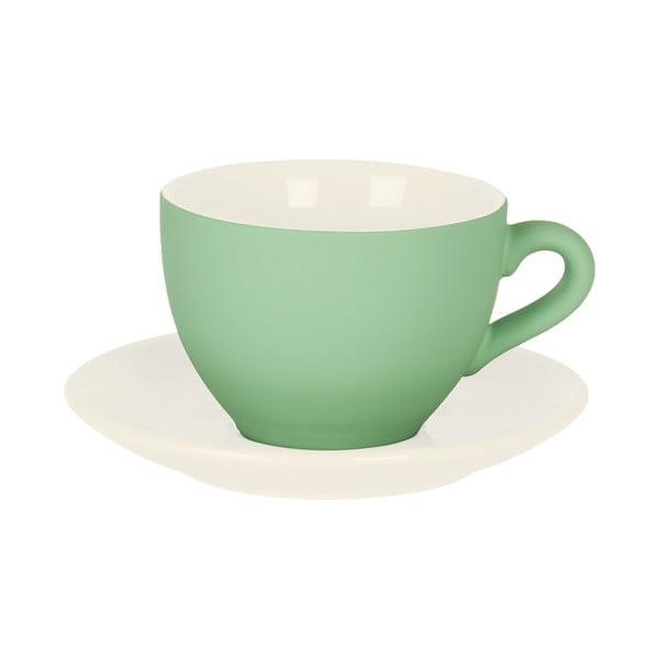 Zelená šálka s tanierikom Present Time Silk