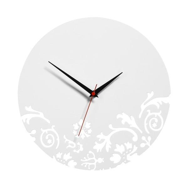 Nástenné hodiny White Clock, 30 cm