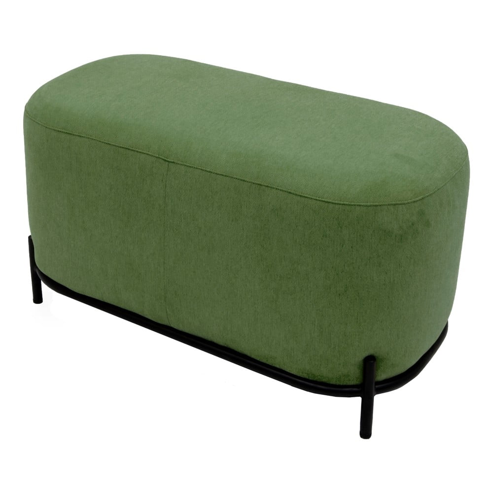Zelený puf Tenzo Harry, šírka 82 cm