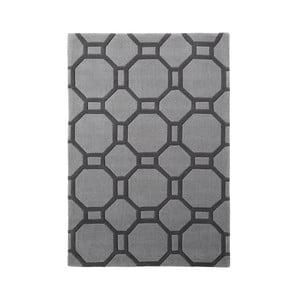 Sivý koberec Tile, 90x150 cm