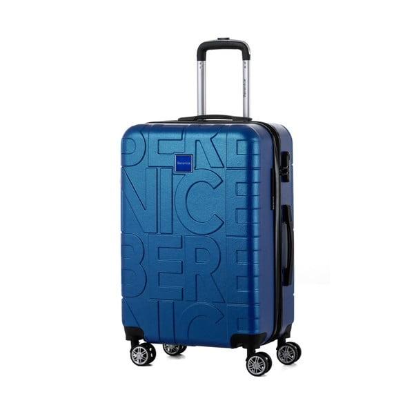 Sada 3 modrých cestovných kufrov Berenice Typo