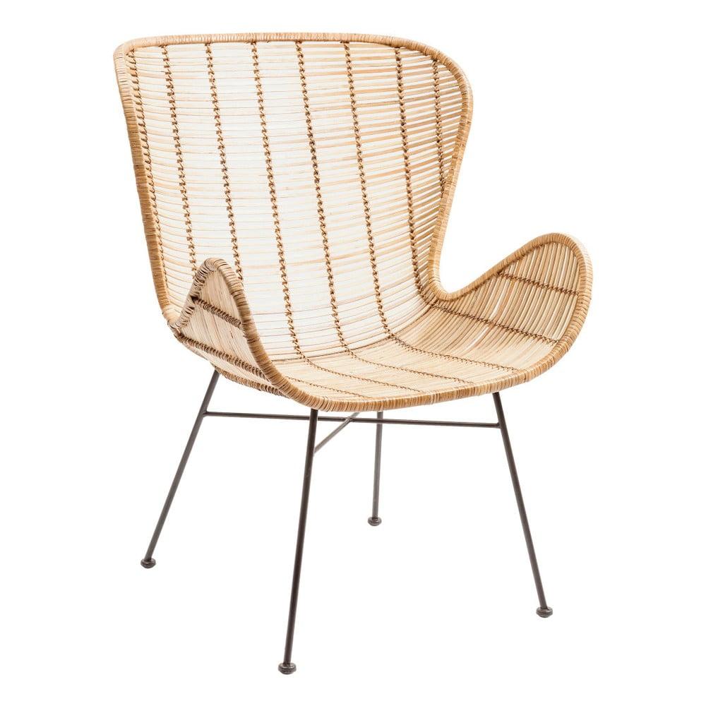 Ratanová stolička s opierkami na ruky Kare Design Ko Chang