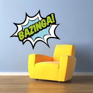 Samolepka na stenu Bazinga!