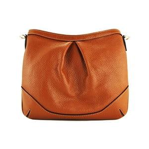 Kožená listová kabelka Maltisa Cognac