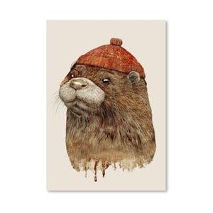 Plagát River Otter, 30x42 cm