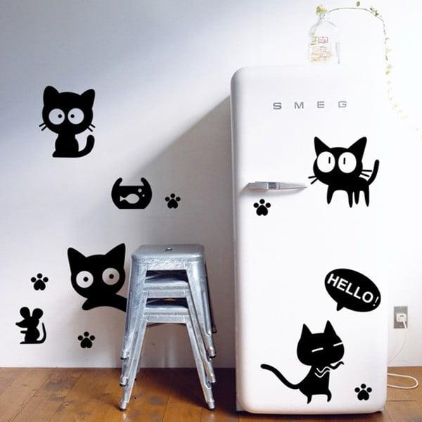 Dekoratívna samolepka Diver Cat, 76x72 cm
