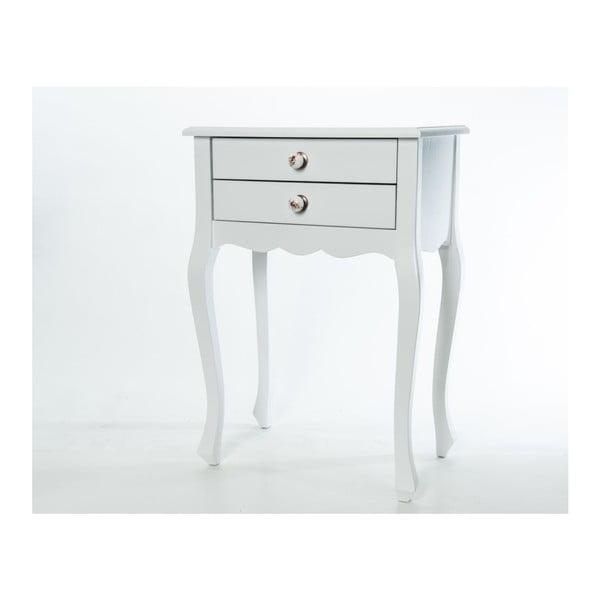 Odkladací stolík Nora White, 52x35x72 cm