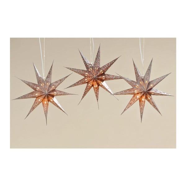 Sada 3 ks svietiacich hviezd Solei, 45 cm
