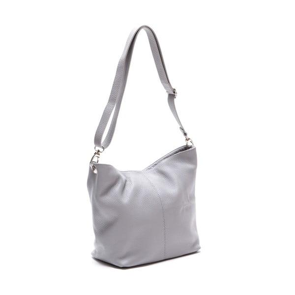 Kožená kabelka Luisa Vanini 1029, sivá