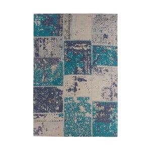 Tyrkysový-sivý koberec Kayoom Neptun, 160 x 230 cm