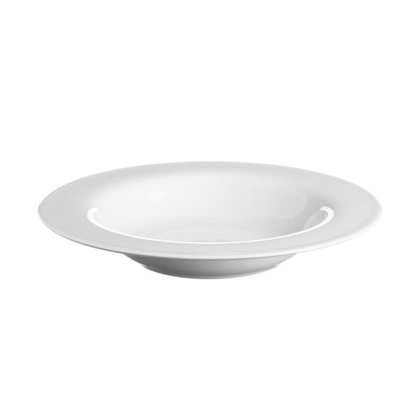 Biely polievkový tanier z porcelánu Price&Kensington Simplicity, Ø 21,5 cm
