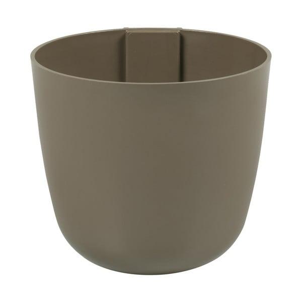 Magnetický kvetináč Bowl 16x14x16 cm, hnedý