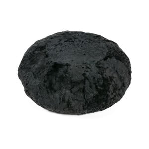 Kožušinový vankúš na sedenie Black