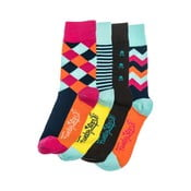 Štyri páry ponožiek Funky Steps Sia, univerzálna veľkosť