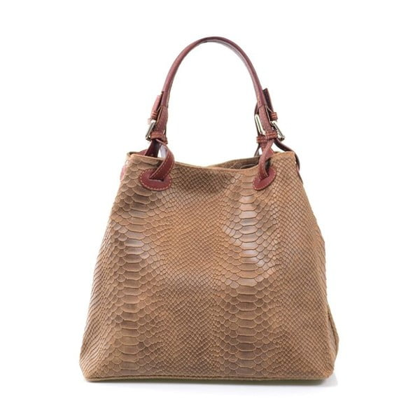 Kožená kabelka Ingrid, béžová