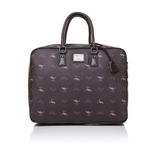 Kožená kabelka do ruky Canguru Louis, hnedá