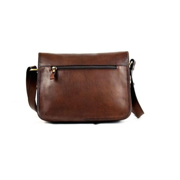 Kožená kabelka Santo Croce M6807 Dark Brown