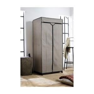 Sivá textilná šatníková skriňa Compactor Wardrobe, výška 160 cm