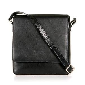 Čierna kožená taška cez rameno Italia in Progress Trinita