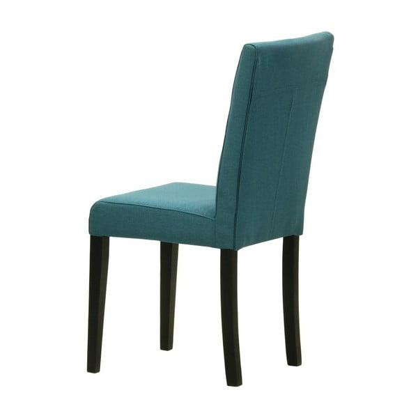 Sada 2 stoličiek Monako Etna Blue, čierne nohy