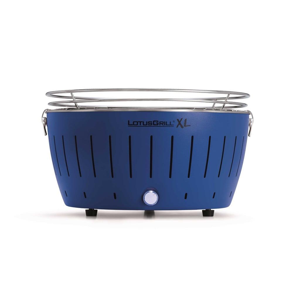 Modrý nedymiaci gril na uhlie LotusGrill XL