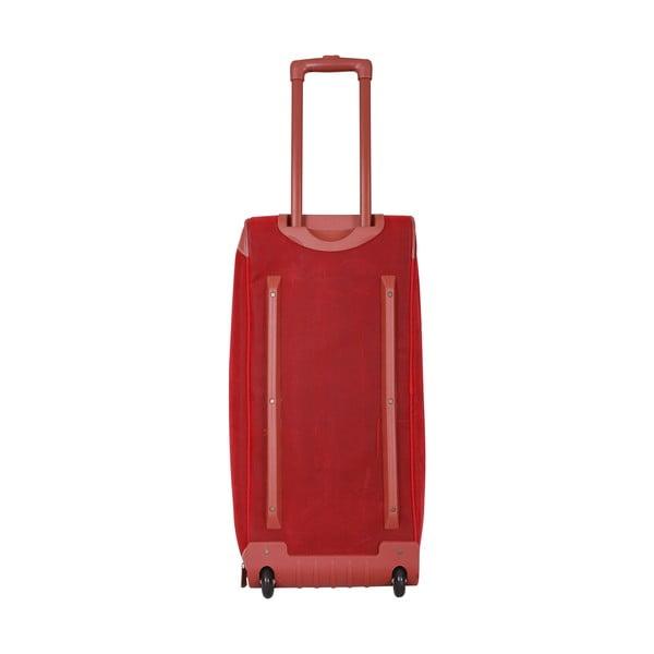 Cestovná taška na kolieskach Jean Louis Scherrer Red, 60 l