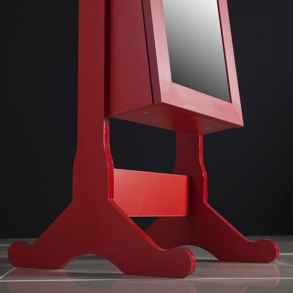 Stojacie zrkadlo so šperkovnicou Adriana, červené