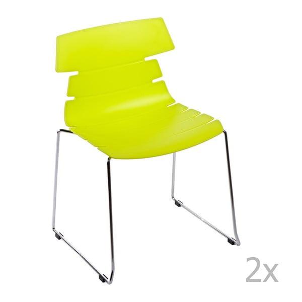 Sada 2 stoličiek D2 Techno, zelené