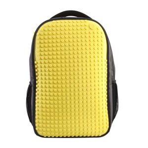 Študentský batoh Pixelbag grey/yellow