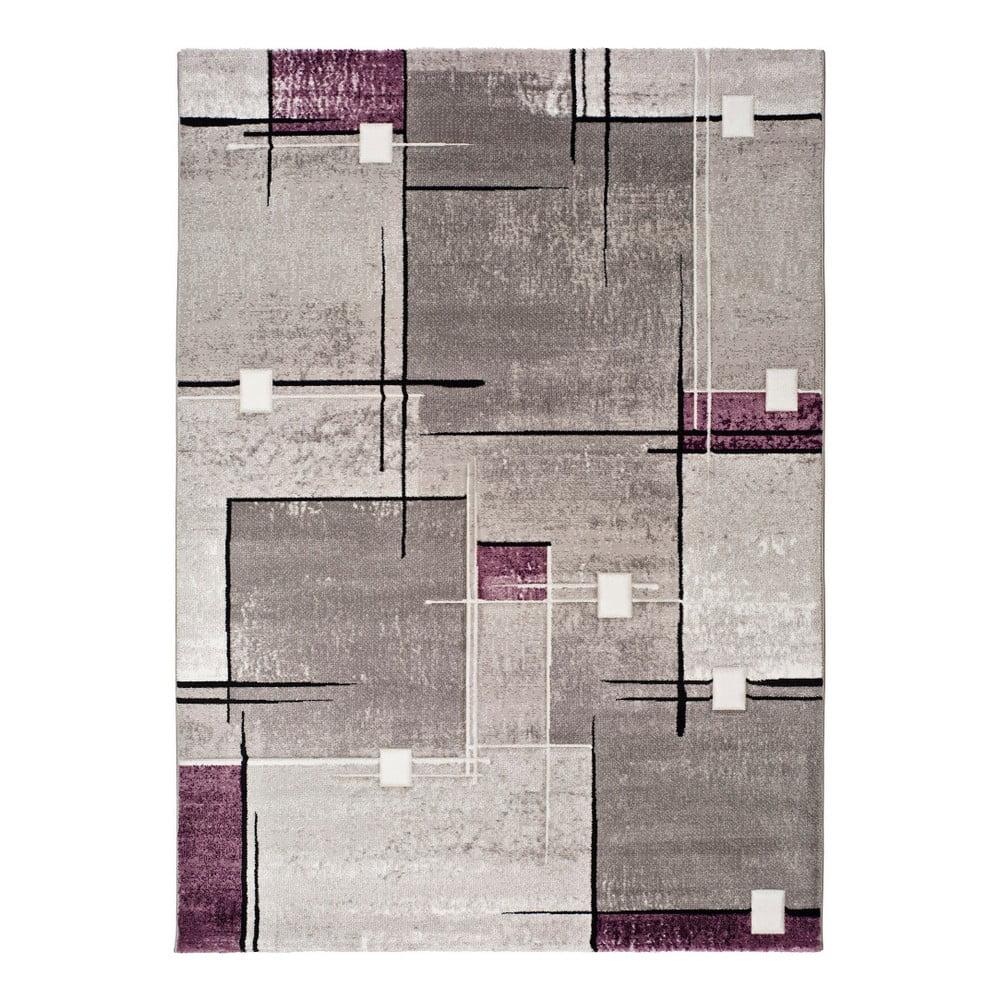 Sivo-fialový koberec Universal Detroit, 140 x 200 cm