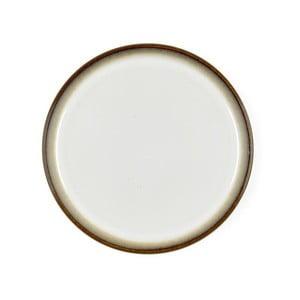 Krémovobiely kameninový dezertný tanier Bitz Mensa, priemer 21 cm