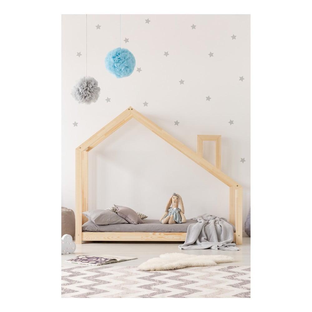 Domčeková posteľ z borovicového dreva Adeko Mila DMS, 70 × 140 cm